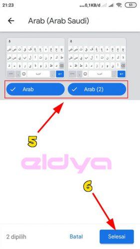 menulis arab di wa