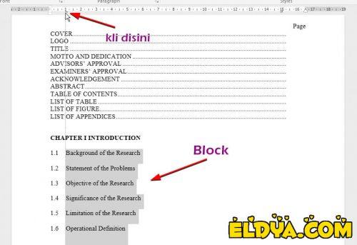 cara membuat titik-titik daftar ini otomatis di word 2013