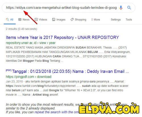 Cara Mengetahui Artikel Blog Sudah Terindeks di Google atau Belum
