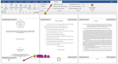 caramembuat nomer halaman dari page 2