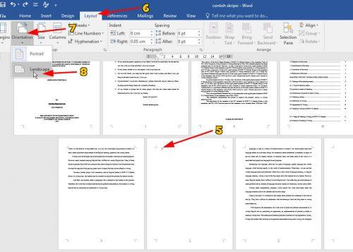 Cara Membuat Halaman Portrait dan Landscape di Satu Dokumen Word