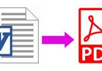 Cara merubah file Ms Word ke PDF tanpa software tambahan