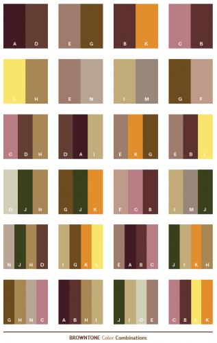 Kombinasi warna Coklat