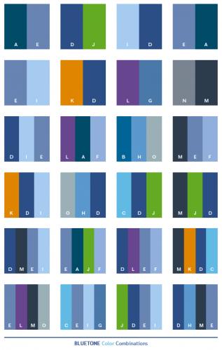 Kombinasi warna biru