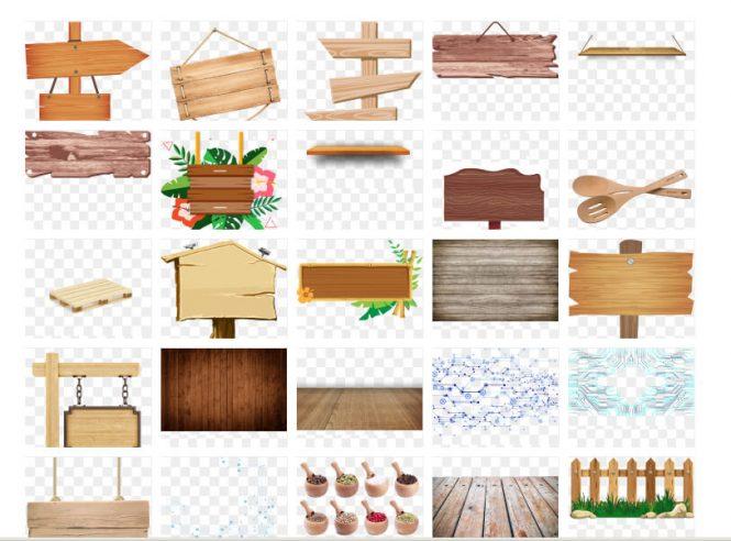 latar papan kayu