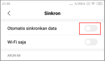 non-aktifkn-sinkron