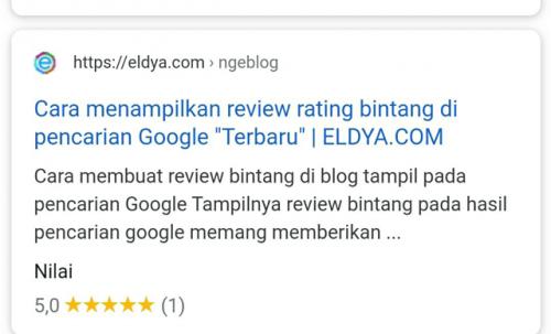 Cara menampilkan rating bintang di pencarian Google