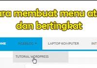 cara membuat menu atas di wordpress